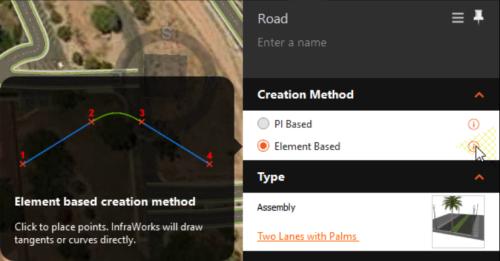 Roads element based